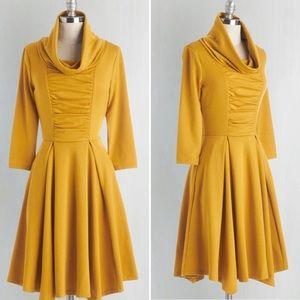 Mustard Yellow Fall Dress - LIKE NEW!